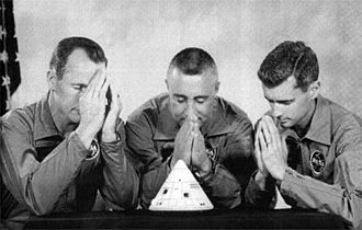 Apollo 1 - The Apollo 1 crew expressed their concerns about their spacecraft's problems by presenting this parody of their crew portrait to ASPO manager Joseph Shea on August 19, 1966.