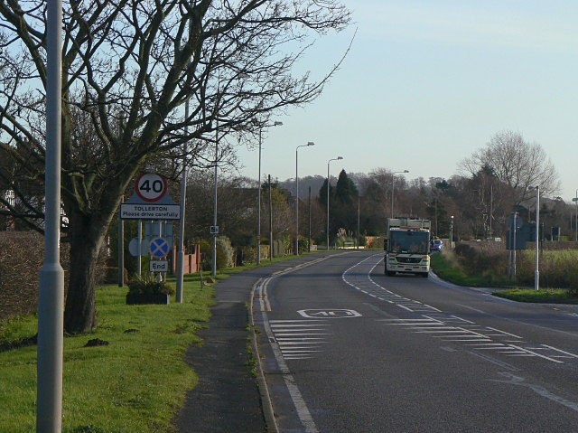 A606 at Tollerton - geograph.org.uk - 1614764