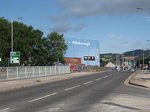 A61 road - Northwards past Sheffield Wednesday Hillsborough Stadium