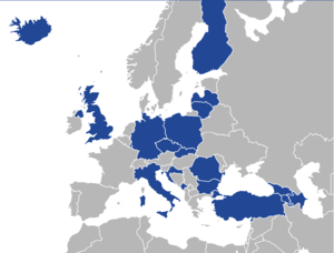 Alliance of Conservatives and Reformists in Europe - The ACRE has twenty-four member parties, and a further three independent members, across twenty-one European countries.