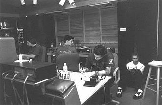 AFI (band) - AFI at the Art of Ears studio in Hayward, California, during the recording of Black Sails in the Sunset.