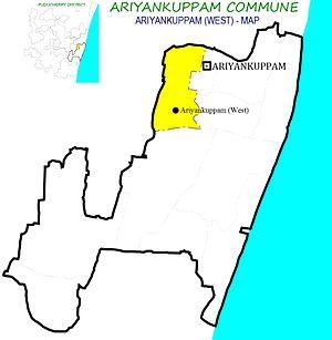 Ariyankuppam Commune - Image: AKM West AKM