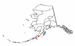 Location of Chignik Lagoon, Alaska