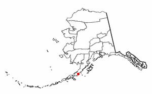 Chignik Lagoon, Alaska - Image: AK Map doton Chignik Lagoon