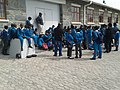 ASC Leiden - Rietveld Collection - 55 - School class in blue uniform visit Robben Island - 2015.jpg