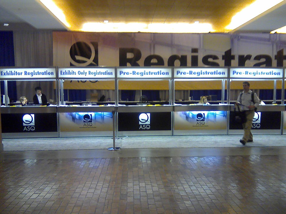 ASQ Registration booth 2010