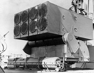 RUR-5 ASROC - Image: ASROC launcher USS Columbus 1962