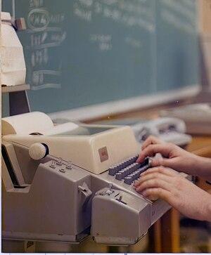 Teletype Model 33 - A Model 33 ASR in use in 1978
