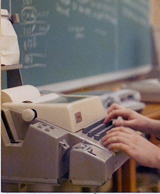 Teletype Model 33 - A Model 33 ASR in use in 1978