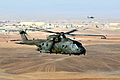 A Royal Air Force Merlin Helicopter Over Afghanistan MOD 45153503.jpg
