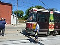A disabled ALRV is about to be towed back to the garage for service, 2014 06 07 (3).JPG