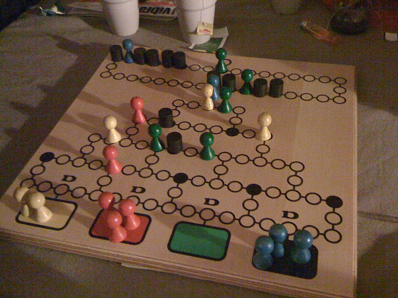 A game of Barricade (Malefiz)