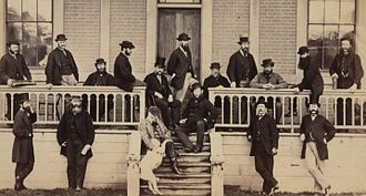 Legislative Council of British Columbia - A group of members of the Legislative Council, circa 1867