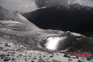 Ansoo Lake - Image: A view of Ansoo Lake in September