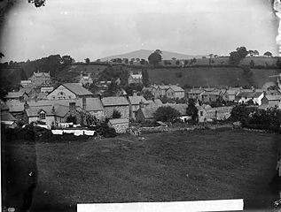 A view of Llanrhaeadr-ym-Mochnant from Y Ddol