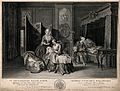 A wealthy dutch man comforting his wife after giving birth, Wellcome V0014970.jpg