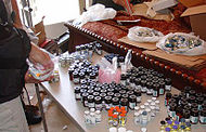 "A large stash of anabolic steroid vials confiscated during ""Operation Raw Deal"" undertaken by the Drug Enforcement Administration which ended in September of 2007."