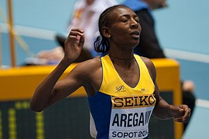 2014 IAAF World Indoor Championships – Women's 1500 metres - Abeba Aregawi, the winner of the competition