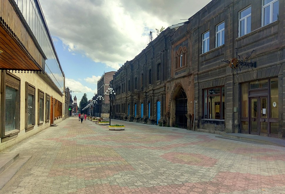 Abovyan Avenue, former Alexandrovsky Street in the Kumayri Historic District, Gyumri, 08.07.2017