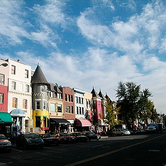 Adams Morgan - Stores and cafes along 18th Street NW
