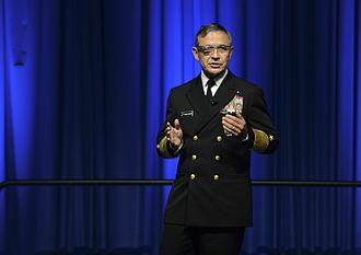 Harry B. Harris Jr. - Adm. Harris wears Google Glass during a presentation at AFCEA West in February 2014.