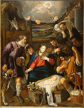 Meadows Museum - Image: Adoration of the Shepherds, by Juan Bautista Maino, Spanish, 1615 1620, oil on canvas Meadows Museum Southern Methodist University DSC05409