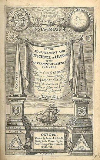 The Advancement of Learning - Title page