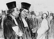 Advokater avbildade av den franske konstnären Honoré Daumier (1808–1879).jpg