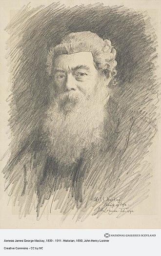 Aeneas James George Mackay - Aeneas James George Mackay, 1890 drawing