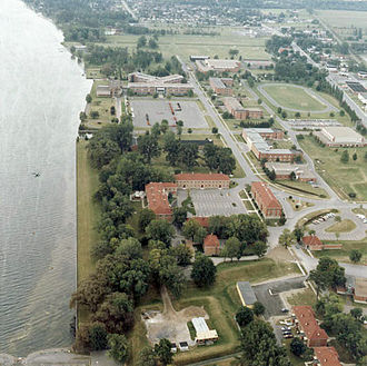 Fort Saint-Jean (Quebec) - Image: Aerial View Royal Military College Saint Jean
