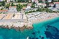 Aerial view of Banje Beach and Lazzarettos of Dubrovnik in Croatia (48612665848).jpg
