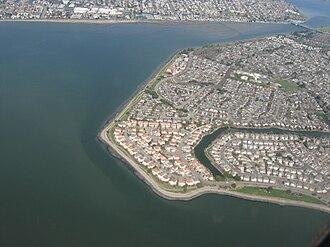 Bay Farm Island, Alameda, California - Western shore of Bay Farm Island