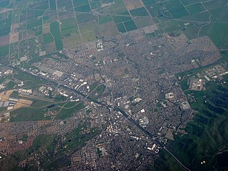 Vacaville, California - Aerial view of Vacaville