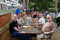 After Wikimania 2018 Cape Town tour dinner.jpg