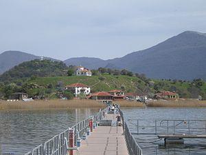 Small Prespa Lake - Image: Agios Axillios
