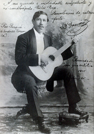 Agustin Barrios, c. 1922.
