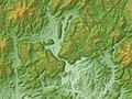 Akiyoshidai Relief Map, SRTM-1.jpg