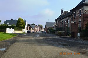 Alaincourt, Aisne - A road within Alaincourt