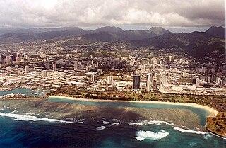 Ala Moana Beach Park park in Hawaii