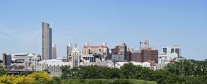 Blick auf die Innenstadt von Albany