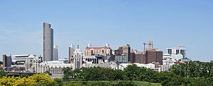 Skyline of Albany, New York, United States fro...