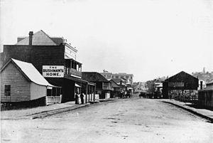 Albert Street, Brisbane - Image: Albert Street Brisbane 1883