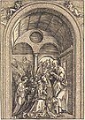 Albrecht Dürer - The Holy Family with Two Angels in a Vaulted Hall (NGA 1941.3.11).jpg