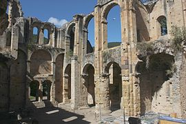 The ruins of the abbey in Alet-les-Bains