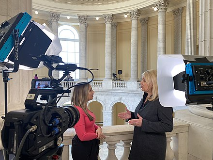 Newsy journalist Alex Miller interviewing Congresswoman Debbie Lesko in 2020.