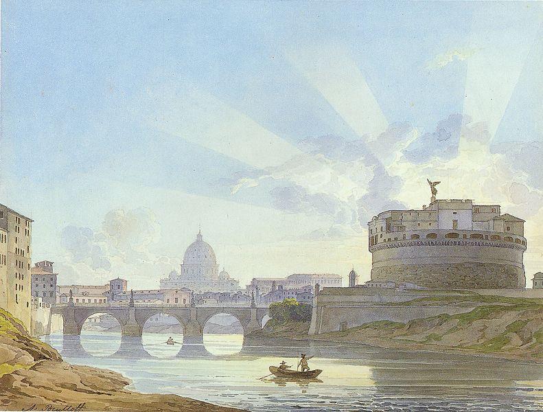 Файл:Alexander Brullov - Castel Sant'Angelo in Rome.jpg