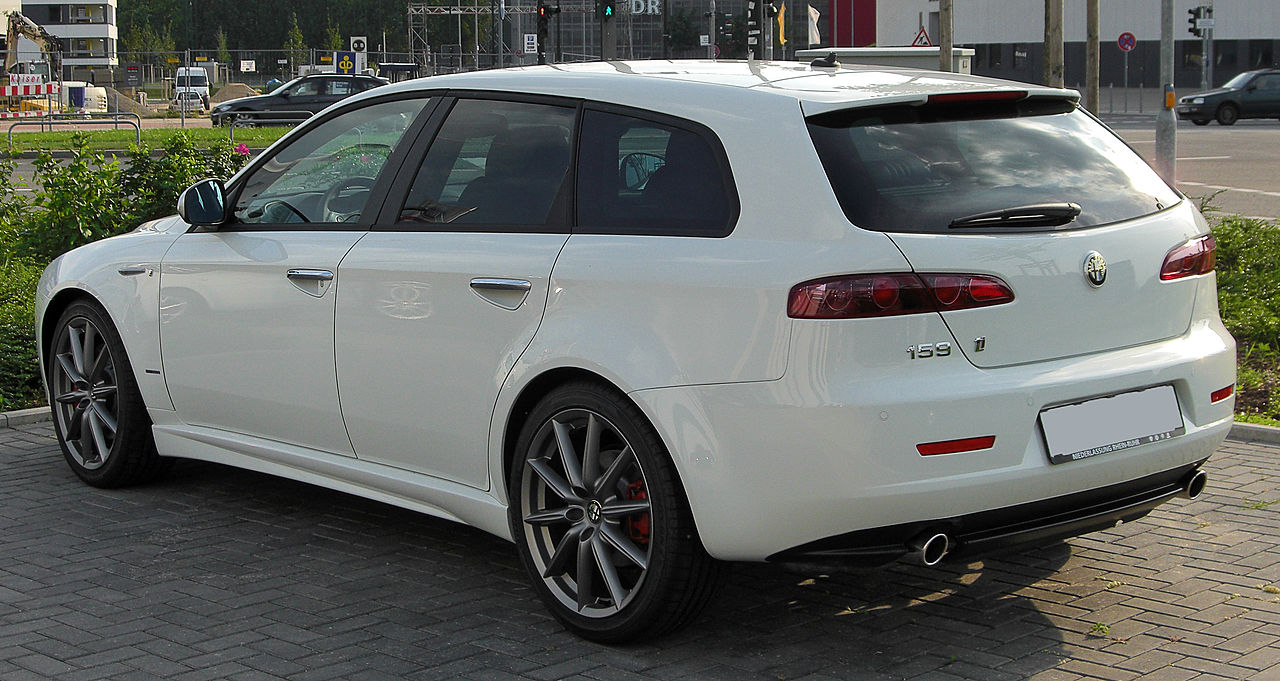 file alfa romeo 159 ti sportwagon rear wikimedia commons. Black Bedroom Furniture Sets. Home Design Ideas