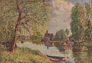 Paysage de rivière à Moret-sur-Loing