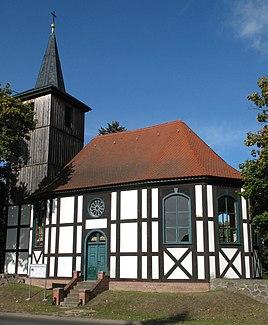 Half-timbered church in Altlüdersdorf