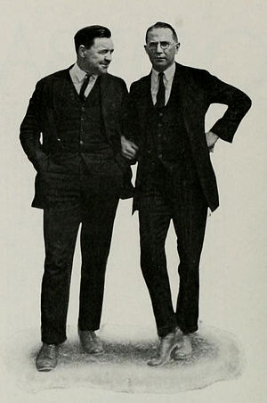 Alvin Twitchell - Twitchell (left) pictured in The Banyan 1923, BYU yearbook